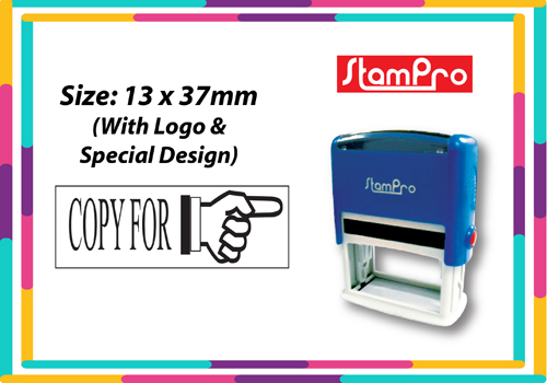 Self Inking Stamp 020  Size: (13mm x 37mm)
