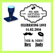 WED_001 WEDDING STAMP DESIGN