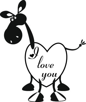 love005_I Love You Horse