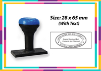 N5 Rubber Stamp Size: (28mm x 65mm)