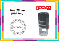 Round Self Inking Size: (29mm x 29mm)