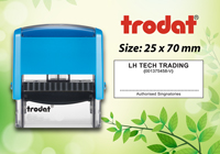 Trodat 4915  Size: (25mm x 70mm)