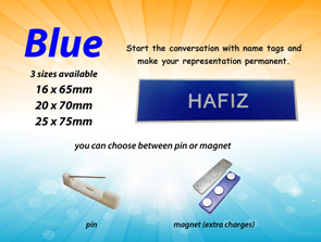 Blue Nametag