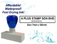 Flash Stamp Size: (7mm x 50mm)