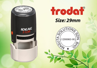 Trodat Round Self Inking Size: (29mm x 29mm)