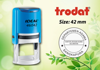 Trodat Round Self Inking Size: (42mm x 42mm)