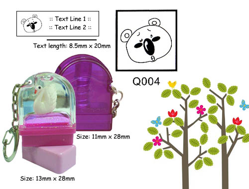 Q004 Stamp Size: 13mm x 28mm