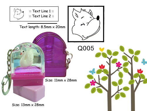 Q005 Stamp Size: 13mm x 28mm