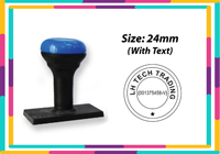 N7 Round Rubber  Stamp R27 