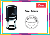 Round Self Inking R524 Size: (24mm x 24mm)