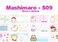 S09 100 pcs Mashimaro Sticker: (9mm x 22mm)