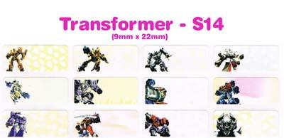 S14 100 pcs Transformer Sticker: (9mm x 22mm)