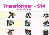 S14 100 pcs Transformer Sticker: (9mm x 22mm)