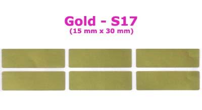 S17 100 pcs Gold Sticker:(15mm x 30mm)