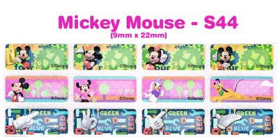 S44 100 pcs Mickey Mouse Sticker: (9mm x 22mm)