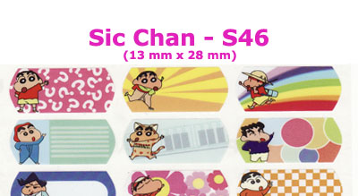 S46 100 pcs Sic Chan Sticker:(13mm x 28mm)