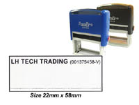 SP4_040 Self Inking Stamp: (22mm x 58mm)