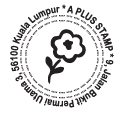 SR002 Self Return Address - Flower(38mm)