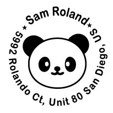 SR009 Self Return Address - Bear(38mm)