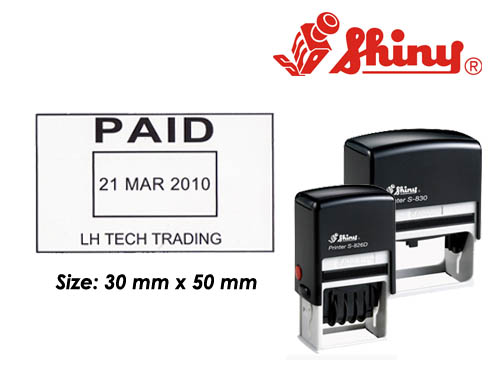 Dater Stamp: (30mm x 50mm)