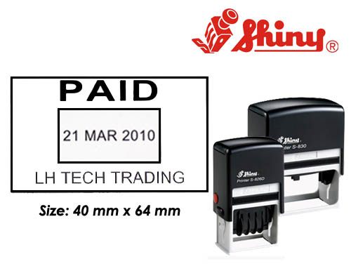 Dater Stamp: (40mm x 64mm)