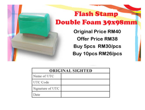 Flash Stamp with Black Ink1 Unit Only
