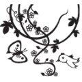 FLOWER BIRD BUTTERFLY ARTSTAMP