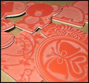 A Plus Unmounted Red Rubber Stamp
